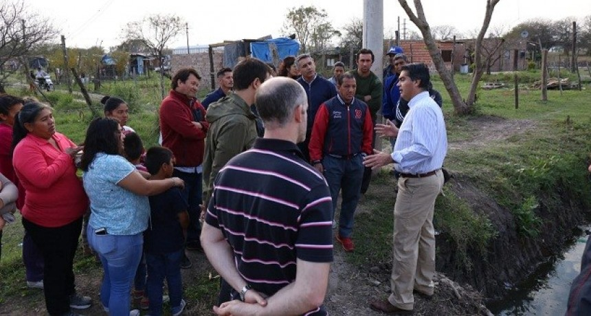 Capitanich verificó trabajos municipales en los barrios Los Aromitos 2 y Zampa