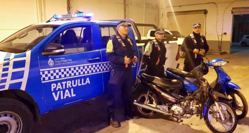 En operativos de la policía Caminera se recuperaron tres motos robadas