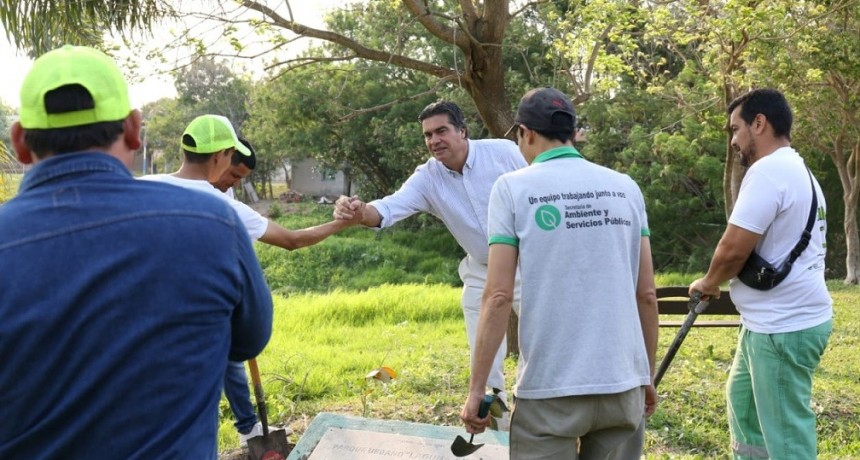 El intendente supervisó los trabajos del conducto pluvial sobre avenida Lavalle