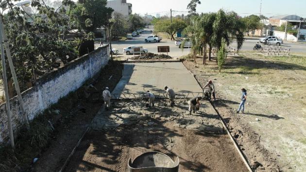 Vialidad Provincial inició la tercera etapa de pavimento en Villa Seitor de Resistencia