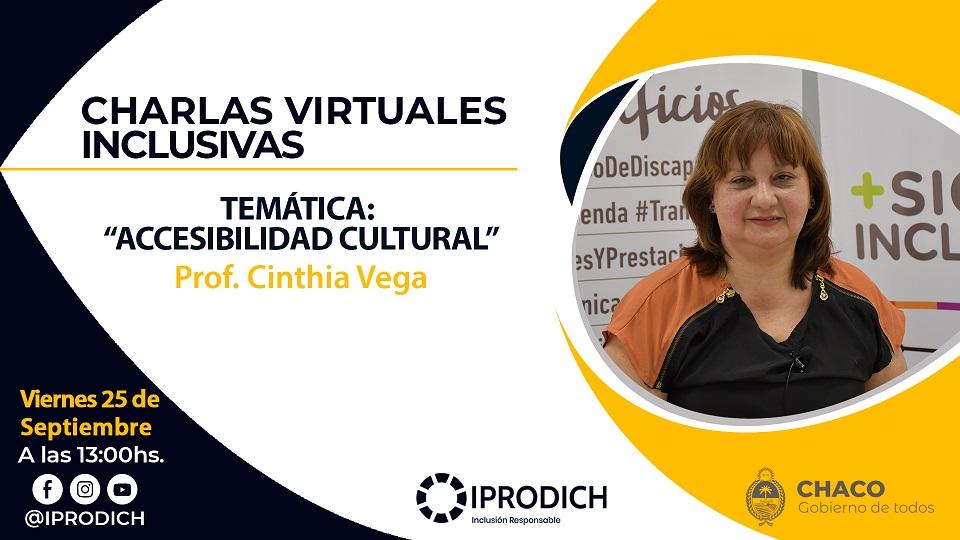 Chaco: IPRODICH continúa este viernes con el ciclo de Charlas Virtuales Inclusivas