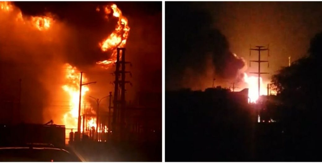 URGENTE | Incendio de gran magnitud en la Usina de Barranqueras deja sin luz al Gran Resistencia