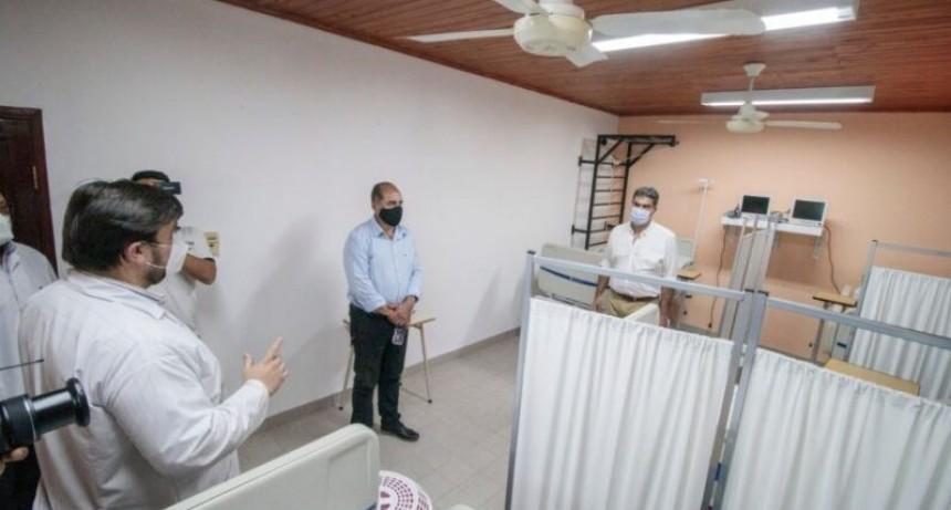 Las Breñas: Capitanich inauguró un centro de aislamiento para pacientes con COVID-19