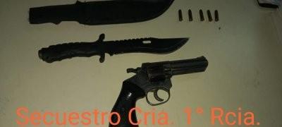 Amenazó de muerte a su pareja a punta de pistola y terminó detenido