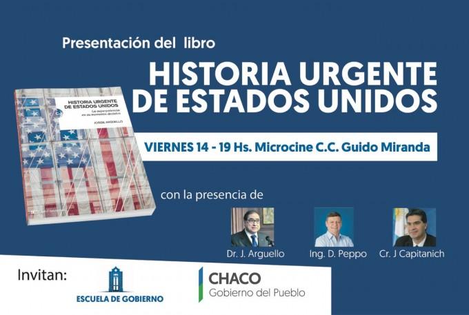 JORGE ARGÜELLO presentara su  historia urgente de Estados Unidos en el Guido Miranda