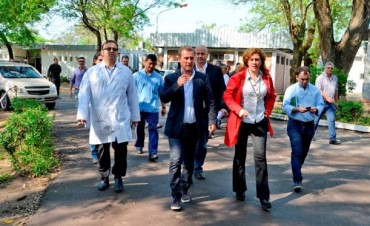 Hospital Perrando: Echezarreta y Crespo verificaron el avance de ejecución de obras claves