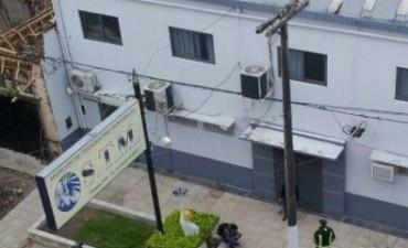 Se incendió la oficina Jacinto Sampayo