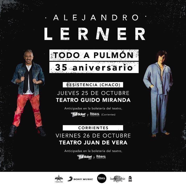 Alejandro Lerner   en el Teatro Guido Miranda