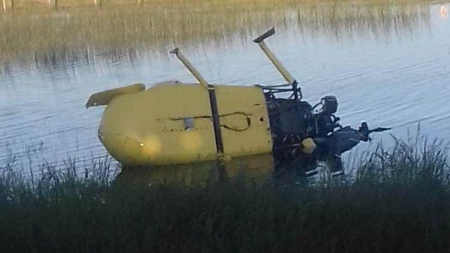 Milagro en Las Flores: se cayó un helicóptero y se salvaron los 4 tripulantes