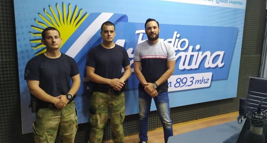 Dos oficiales chaqueños del COE fueron destacados en Colombia