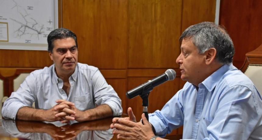 Domingo Peppo Recibió a Jorge Capitanich para comenzar la transición