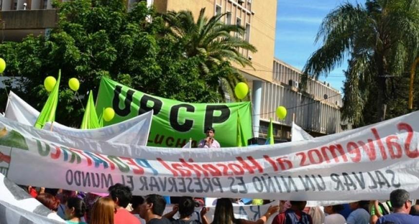 UPCP bloqueó el acceso al playón de estacionamiento de la Casa de Gobierno