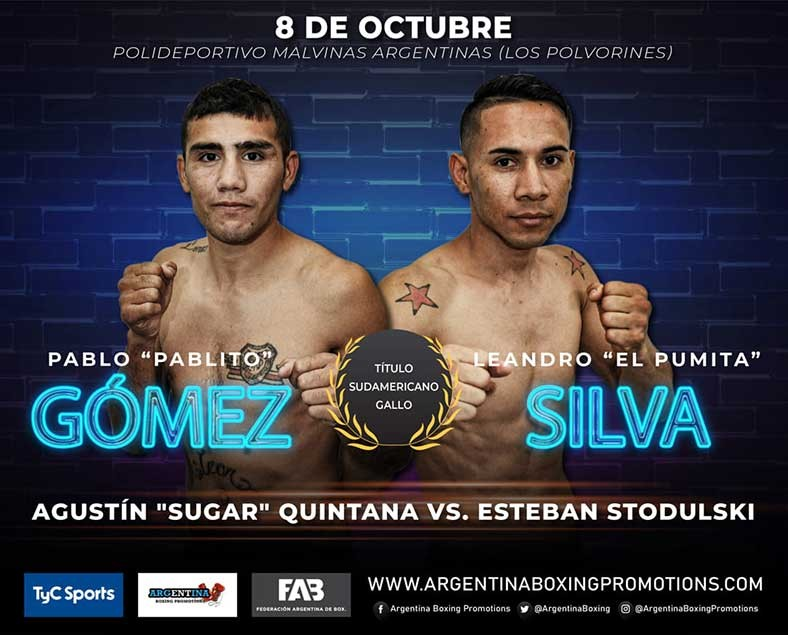 """El boxeador chaqueño Leandro """"El Pumita"""" Silva pelea este viernes por el título sudamericano gallo"""