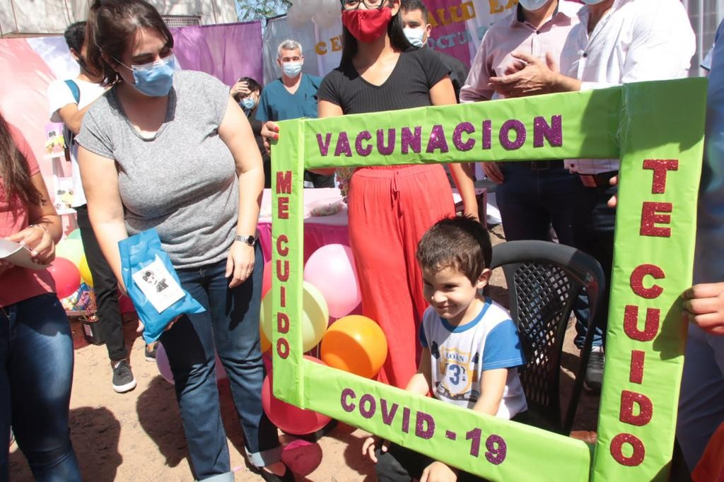 Chaco inició la vacunación contra covid-19 en niños y niñas priorizadas de entre 3 y 11 años