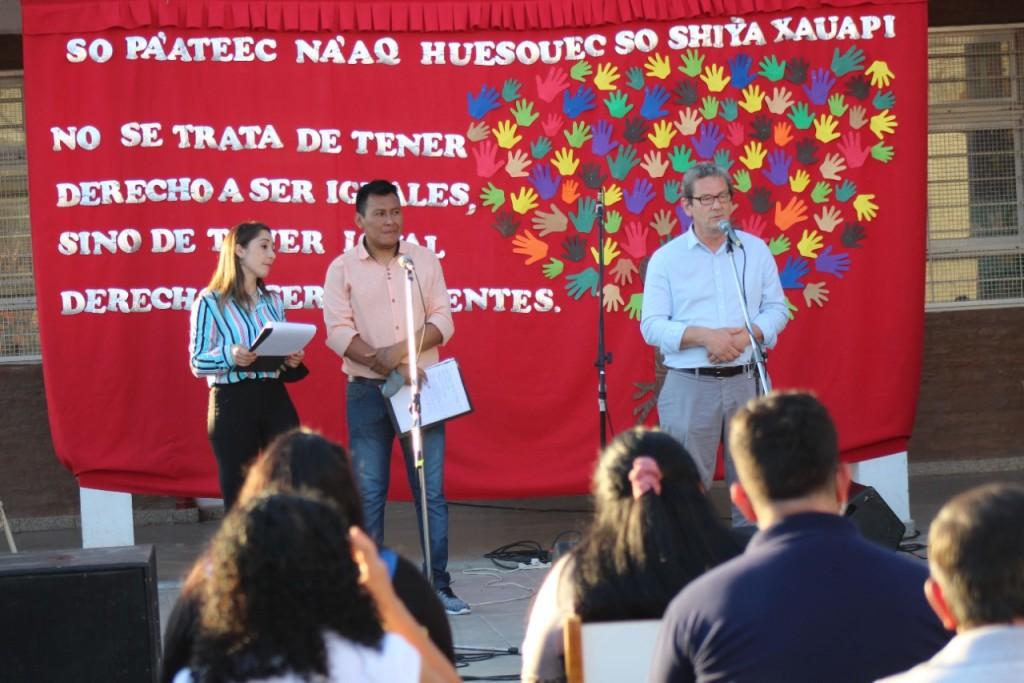 Desde la escuela pública de gestión comunitaria indígena se conmemoró el último día de Último Día de Libertad de los Pueblos Originarios