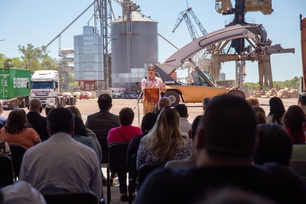 Inauguraron una nueva zona operativa que mejorará la logística en el Puerto de Barranqueras
