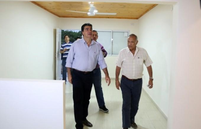 Capitanich recorrió las viviendas que sorteará el Bingo 2016 del Sindicato de Trabajadores Municipales