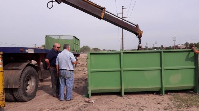 Eliminación de basurales: la Municipalidad sumó contenedores en la zona Sur