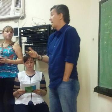 El senador Eduardo Aguilar visitó la E.E.P. Nº 596 del Bº Güiraldes