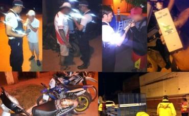 CAMINERA SECUESTRA 41 MOTOCICLETAS EN OPERATIVO NOCTURNO