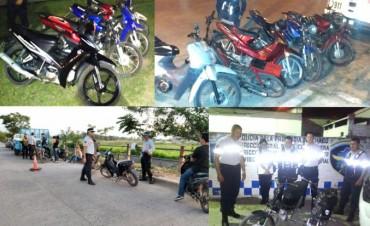 GRAN TRABAJO DE PREVENCIÓN CON 47 MOTOS INCAUTADAS