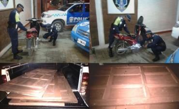 CAMINERA: EVITAN ROBO DE MOTO Y PUERTAS DE ALGARROBO EN SAENZ PEÑA