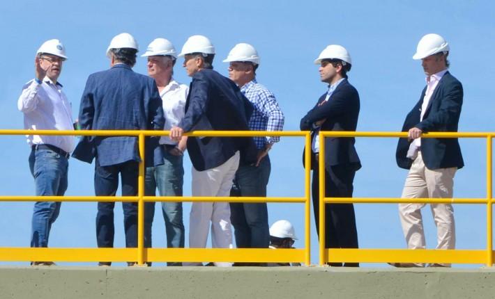 El presidente Maurio Macri visito las obras de la Planta de Tratamientos de Efluentes en la zona sur de Resistencia