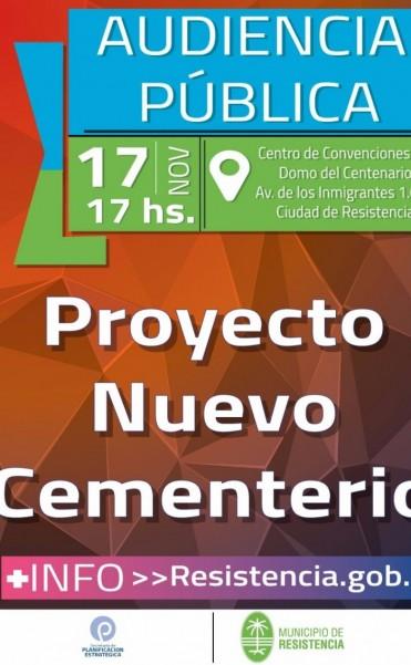 El municipio realiza mañana la audiencia pública donde será presentado el proyecto del nuevo cementerio