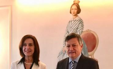 PEPPO FUE RECIBIDO POR LA CÓNSUL ARGENTINA EN BONN: