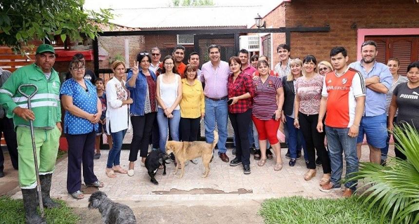 Capitanich coordina con vecinos del barrio Insssep nuevos  trabajos de mejoramiento urbano
