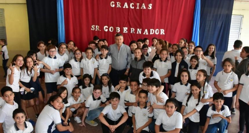 Domingo Peppo habilitó obras en la Escuela Normal Sarmiento de Resistencia