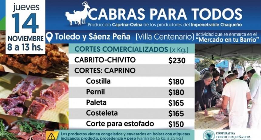 El Camión Frigorífico del Programa Cabras Para Todos estará este jueves en Villa Centenario
