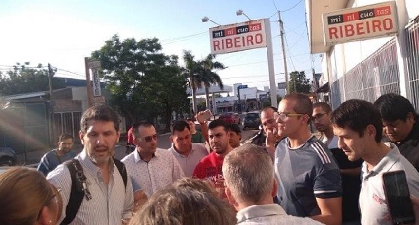 La Empresa Mini Cuotas Ribeiro cerró sus puertas en la sucursal de Villa Ángela