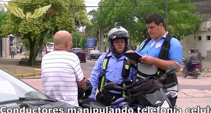 Inspectores del Municipio realizaron nuevos controles sobre el uso de telefonía celular al volante