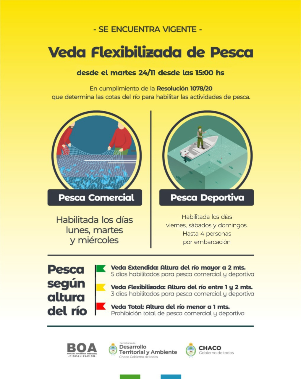 Chaco: desde este martes, rige la veda flexibilizada en la provincia
