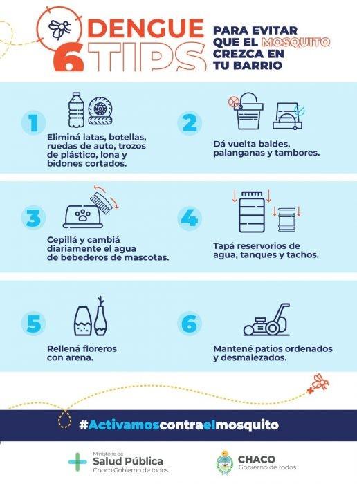 Chaco | Dengue: Instan a la población a ser protagonista en las acciones para evitar los criaderos de mosquitos