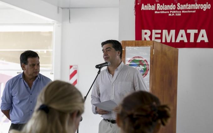 Capitanich participó en la apertura de la subasta de  bienes propios del municipio