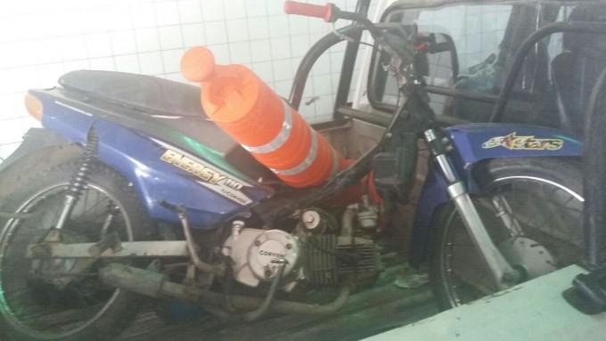 CAMINERA RECUPERA NUEVAMENTE OTRA MOTO ROBADA EN OPERATIVO.