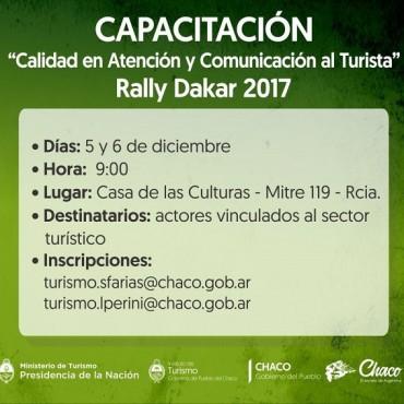 DAKAR 2017: CAPACITARÁN EN ATENCIÓN AL TURISTA