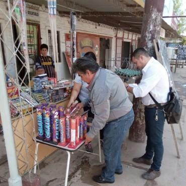 La Municipalidad clausuró local por venta de pirotecnia no autorizada