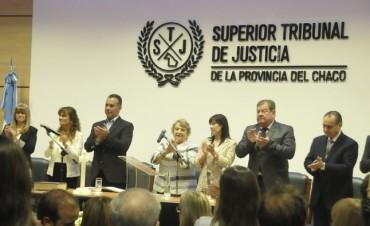 EN EL JURAMENTO DE GRILLO COMO PRESIDENTE DEL SUPERIOR TRIBUNAL, EL VICEGOBERNADOR RATIFICÓ EL TRABAJO EN CONJUNTO CON LA JUSTICIA