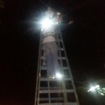 El municipio repuso más de 150 luminarias de alumbrado público