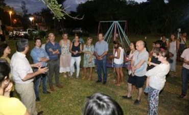 Capitanich habilitó las obras de remodelación de la plazoleta de Villa Camila, apadrinada por el Nuevo Banco del Chaco