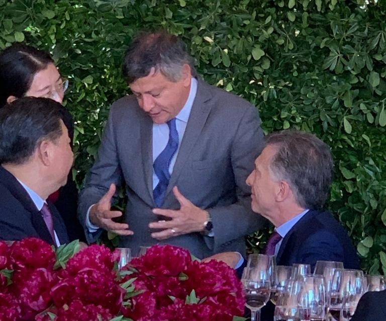 G20: PEPPO DIALOGÓ CON EL PRESIDENTE DE CHINA
