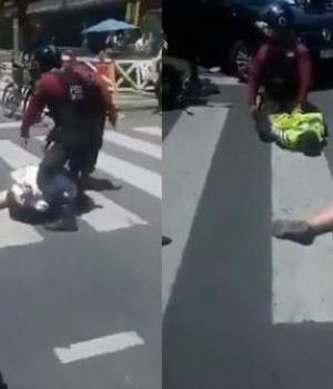 Detienen a motochorros en pleno centro y testigos piden que los ejecuten