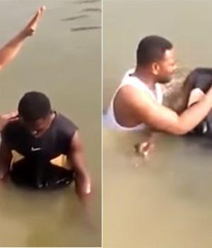 Escalofriante video: pibe murió ahogado cuando lo bautizaban en un río