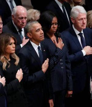 Líderes yanquis y del mundo rinden honores a George H. W. Bush