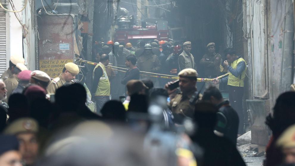 Video: Se incendió una fábrica en Nueva Delhi