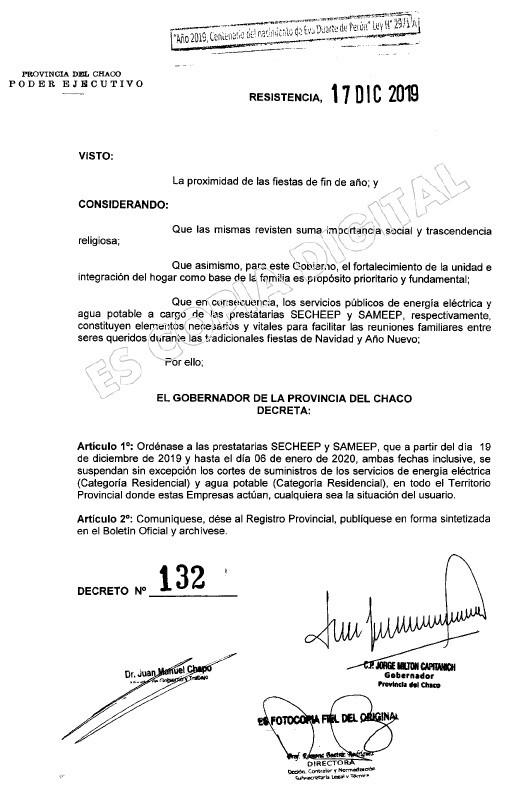 El Gobernador decretó asueto administrativo para el 24 y 31 de diciembre