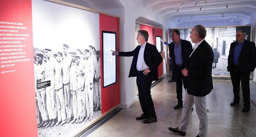 Macri visitó el Museo del Holocausto y pidió
